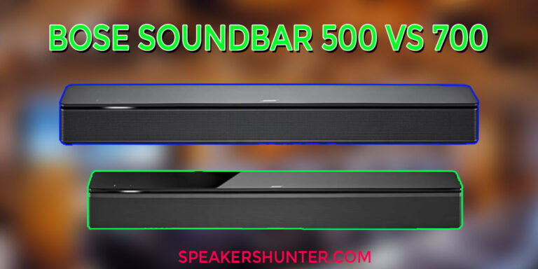 Bose soundbar 500 and 700