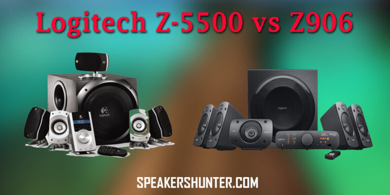 Logitech Z5500 and Z906