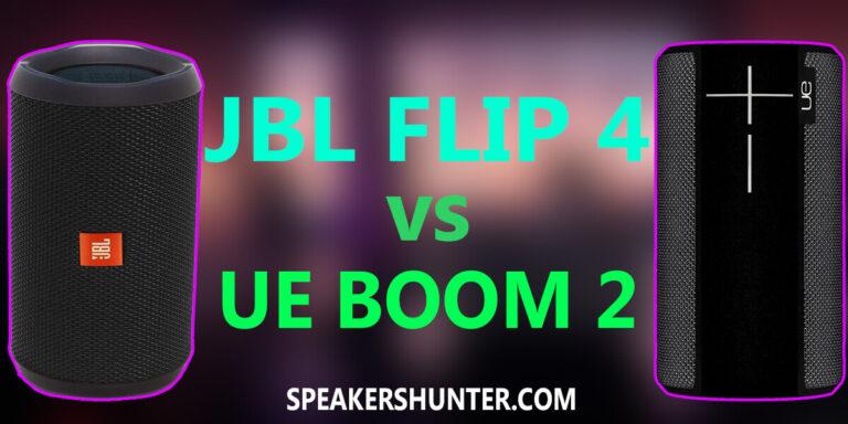 JBL Flip 4 and UE Boom 2