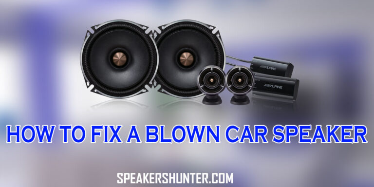 How to Fix a Blown Car Speaker
